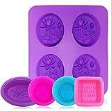 Afunta Coque en silicone Savon Moules, 5pcs/Glaçon anti-adhérent Fabrication de savons Fournitures Cupcake...