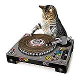 SUCK UK Grattoir pour Chat en Forme de Platine de DJ