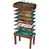Ultrasport Table de jeux 12 en 1, table de jeu pour enfants avec baby-foot, billard, échiquier et plus -...
