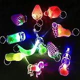 Zcoins 12 Pièces Mini LED Lampes de Poche Keyring Kits de fêtes, Idéal pour Retour Cadeaux Sac Fillers...