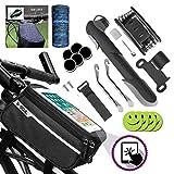 Sacoche Cadre de vélo,Support smartphone pour Ecran Tactile ,Trousse d'outils de Vélo,Mini Pompe à...