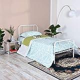 Aingoo lit Simple 90x190 cm Base de Cadre de lit en métal avec tête de lit et Lattes en Acier, Design Lisse...