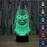 3D Lampe LED lumière usb Veilleuse stimmungslicht humeur Lumières Touch Bouton de bureau chambre Art...