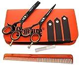 CANDURE Ciseaux de coiffure Barber Salon de coupe de cheveu Noir Vis éclaircie. 5.5'