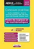 Concours post-bac - Tests de logique et de mathématiques - Écoles de management - Concours 2018-2019