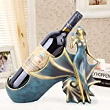 QXX Vin Rack résine Artisanat Moderne minimalisme Bleu conque Porte-Bouteilles de vin Accueil vitrine...