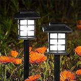 ALIKEEY 2Pcs énergie solaire LED lumière extérieure jardin pelouse lumières chemin paysage lampe Lampe...
