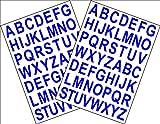 Lot de 2 feuilles A5autocollantes avec lettres de l'alphabet Hauteur 2,5cm avec verso adhésif Découpe...