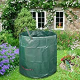 LJXiioo Sacs de Jardinage - Grands Sacs à ordures Robustes avec poignées (270L),4bags