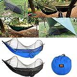 Pinkfishs Exterieur Portable Camping Parachute hamac Hanging Swing lit avec moustiquaire - Noir