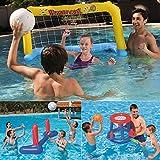 ZPeng Jeux de Piscine, Jouets de Piscine gonflables, Basket-Ball, Volley-Ball, Jeu de Handball, Jouets de Jeux...