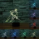 Lampe 3D de Bureau Illusions Optiques,KINGCOO 7 couleurs Changement USB Tactile Interrupteur Lumière De Nuit...