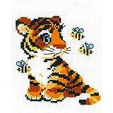 Stripies Happy Bee Kit de Broderie au Point de Croix compté Multicolore