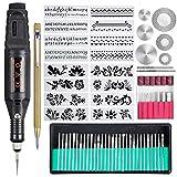 Trousse à outils de gravure de 70 pièces, stylo graveur électrique multifonctionnel, outil rotatif...