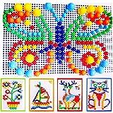 Itian Peach de puzzle pour ongles de champignons pour les enfants, totalement 6 couleurs, 296 comprimés