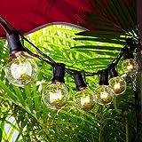 Chenci G40 Guirlandes Lumineuses Guirlande Guinguette 7.62m 25 Ampoules Led Raccordable Blanc Chaud,...