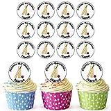 Batte de cricket et quilles 24personnalisé comestible pour cupcakes/décorations de gâteau...