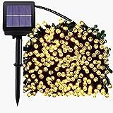 Guirlande Solaire Lumière,72ft 200led guirlande lumineuses exterieur,guirlande led solaire,8 mode scintillant...