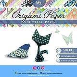 MozArt Supplies Origami Papier – 120 Feuilles au Format 15x15 cm – 40 Motifs Différents : Chats,...