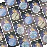 Njpower 1pcs 30feuilles coréen Cute Lonely Planet Earth Lune Neptune Sedna Stickers Forme ronde Memo Pad...