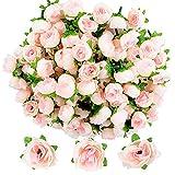 JNCH 100pcs Rose Artificielle Capitules Tete Fleur Faux Plante Artificielle Decoration pour Maison Mariage...