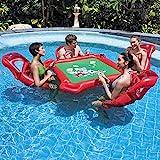 Équipement de divertissement portatif extérieur de l'eau, table de poker flottante gonflable de piscine de...