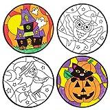 Baker Ross Décorations d'halloween pour fenêtres à colorier (Lot de 12), Loisirs créatifs et décorations...