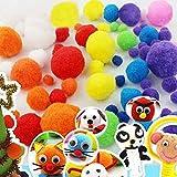 1cm Craft Pompons Multicolores Rondes,2000pcs pour Enfant Artisanat Fabrication et Loisirs Fournitures DIY...