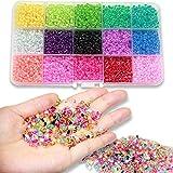Ewparts 3mm Mini Perles en plastique de verre pour enfants Bracelet de bricolage Art & Bijouterie, Ensemble de...