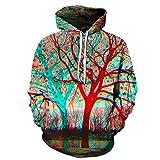 Liang yifang 6XL Arbre 3D Hoodies Hommes Sweatshirts Unisexe Mode Pull Nouveauté Streetwear SurvêTement...