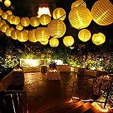 Qedertek Guirlande Solaire Extérieure 6M 30 LED Guirlande Lumineuse Lanterne Blanc Chaud Lumière Decorative...