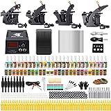 Solong Tattoo Kit de Tatouage Complète 4 Machine à Tatouer Professionnelle 54 Encres Power Supply Aiguille...