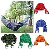 Accueil Nylon Hamac Hanging Mesh Dormir Lit Swing Camping En Plein Air Voyage (Couleur Aléatoire)
