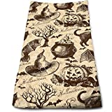 Juzijiang Hand Towels Happy Halloween Crazy Party Face Towels Highly Absorbent Towels for Face Gym and Spa 12'...