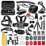 Followsun 52-en-1 Kit d'Accessoires pour Sport Action Caméra GoPro Hero Session/5 Hero 1 2 3 3+ 4 5 SJ4000...