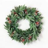Aiguilles de pin blanches collantes de 50 cm Feuilles de Noël Couronnes de Noël Fruits à noix mélangées...
