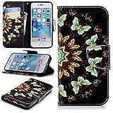 iPhone 6S Coque, iPhone 6Coque, Dooge Fonction Béquille [] Premium Cuir synthétique à rabat Folio de...