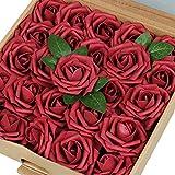 VLoveLife Lot de 25 fleurs artificielles ivoire réalistes Pour mariage, centre de table, arrangements,...