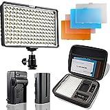 SAMTIAN Torche Vidéo LED Vidéo Lampe 160 LED Appareil Photo Lumière pour Canon, Nikon, Pentax, Olympus et...