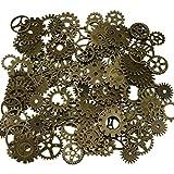 200 grammes assorties Vintage Bronze Metal Steampunk bijoux faisant des charmes Roue de montre dent (Bronze)