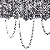 12 Mètres Chaîne Collier en Acier Inoxydable Chaîne de Câbles pour Bijoux Accessoires Bricolage, Couleur...