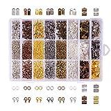 pandahall Elite - Lot de 1 Boite Environ 2580pcs Kits de Decouvertes de Bijoux, avec Extremites de Fil de Fer,...