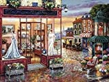 La robe de mariée boutique kit de point de croix 14 ct 400*297point 82 x 64 cm kit de broderie au point de...