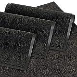 GadHome Tapis de porte, noir 60x90 cm | Tapis de porte extérieur, imperméable, lavable, tapis robuste...