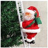 Soulitem 1 Pièce Électrique Escalade Échelle Père Noël Noël Figurine Ornement Décoration Cadeaux