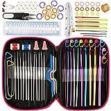 [Aiguilles à Crochet] Luxebell Ensemble de 22 pcs Aiguilles à Tricoter/Crochet à Tricoter Multicolore, Set...