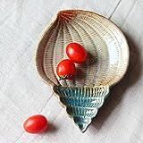 Bazaar Créatif céramique coquille maison de cuisine conque étoiles de mer casse-croûte fruit plat de sauce...