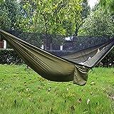 Esoes Camping Hamac avec moustiquaire–Lit à Suspendre Portable extérieur Hamac de Voyage pour Le...