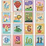 Ensemble de cadeau pour cartes de partage de photos de feuille de 36 feuilles Cartes d'âge de bébé - Cartes...