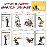 Gaston Lagaffe GLCT-6061 à GLCT-6068 Lot de 8 Cartes d'anniversaire pour Tous les âges avec Dessin Vintage...